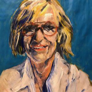 """Zelfportret"" - Acryl op papier - 30 x 40 cm"