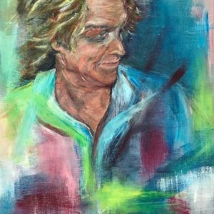 """Man's portret"" - Acryl op paneel - 30 x 40 cm"