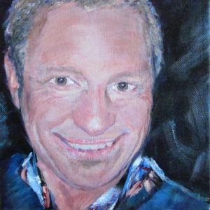 """Man's portret"" - Acryl op op doek - 20 x 20 cm"