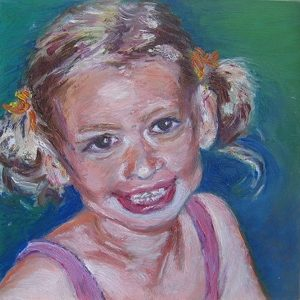"""""""Meisje"""" - Olieverf op doek - 40 x 50 cm"""