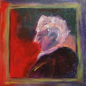 """""""Opa II"""" - Acryl op board - 20 x 20 cm"""