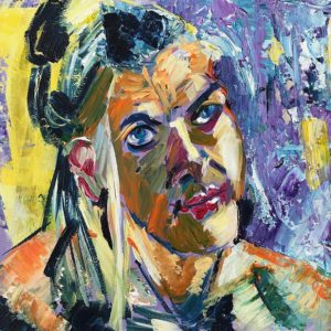 """Lady's portret I"" - Acryl op doek - 30 x 40 cm"