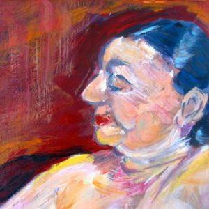"""""""Lady's portret II"""" - Gemengde techniek op doek - 30 x 40 cm"""