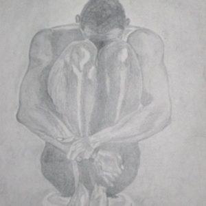"""Balletdanser II"" - Grafiet op papier - 24 x 32 cm"