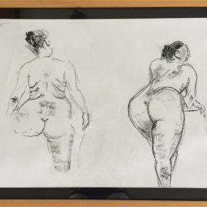 """Model schets II"" - 50 x 65 cm"