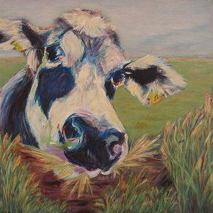 """""""Zwart bont"""" - Acryl op doek - 100 x 100 cm"""