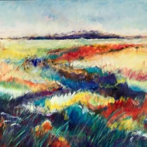 """""""Beekbal landschap"""" -  Acryl op doek -  50 x 50 cm"""