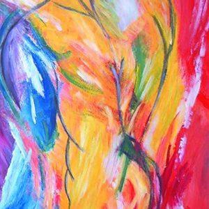 """""""Body"""" - Acryl op papier - 50 x 70 cm"""
