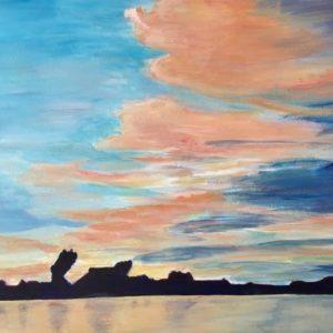 """""""Gaastmeer Friesland"""" - Acryl op board - 43 x 53 cm"""
