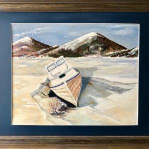"""Gestrand in Newfoundland""  -  Olieverf op canvas  - 60 x 70 cm"