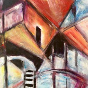 """'Molen II"""" - Acryl op doek - 40 x 60 cm"""