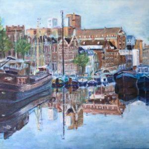 """""""Noorderhaven""""- Olieverf op doek - 50 x 70 cm"""