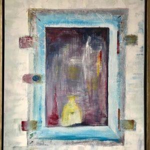 """""""Tweeluik I"""" - Gemengde techniek op doek - 60 x 90 cm"""