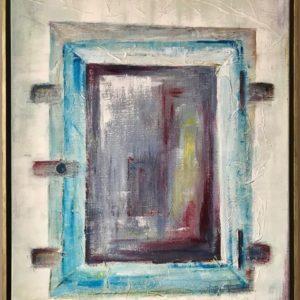 """""""Tweeluik II"""" - Gemengde techniek op doek - 60 x 90 cm"""
