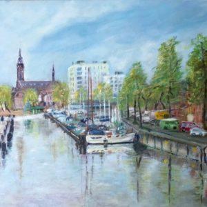 """""""Oosterhaven"""" - Olieverf op doek - 50 x 70 cm"""
