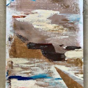 """""""Op zee"""" - Acryl op papier - 30 x 40 cm"""