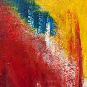 """Storm I"" - Acryl op karton - 20 x 20 cm"