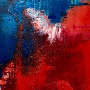 """Storm II"" - Acryl op karton - 20 x 20 cm"