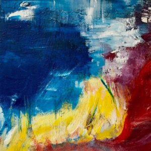 """Storm III"" - Acryl op karton - 20 x 20 cm"