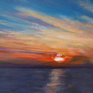 'Tussen Workum en Makkum II - Acryl op paneel - 30 x 43 cm