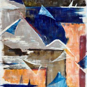 """Zeiltjes"" - Acryl op kanvas - 60 x 90 cm"