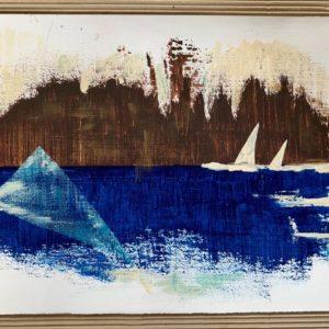 """Zeiltjes"" - Acryl op papier- 30 x 40 cm"