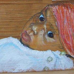 """""""Pas geboren I - Acryl op paneel - 30 x 15 cm"""